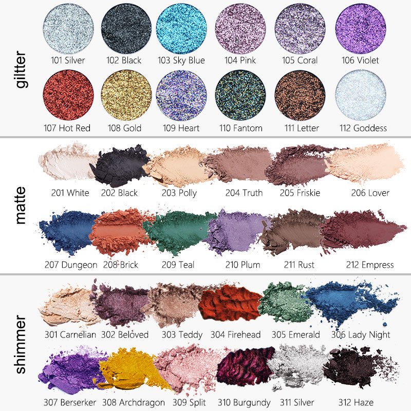 PHOERA Pressed Powder Loose Pigment Eyeshadow