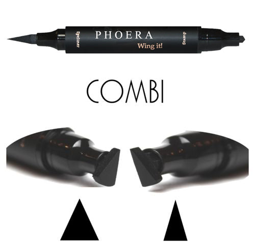 PHOERA Wing Eyeliner Stamp Fashion Cool Double Sides Waterproof Black Liquid Stamp