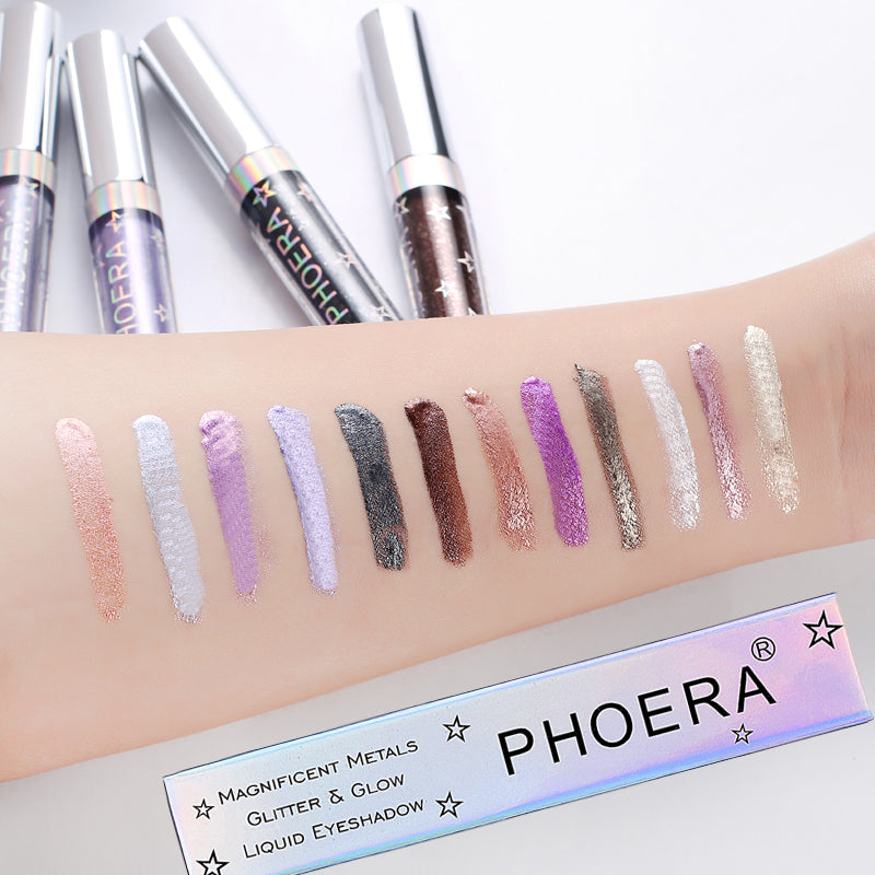 PHOERA Magnificent Metals Glitter and Glow Liquid Eyeshadow