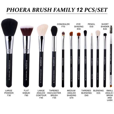 PHOERA BRUSH FAMILY 12 PCS/SET