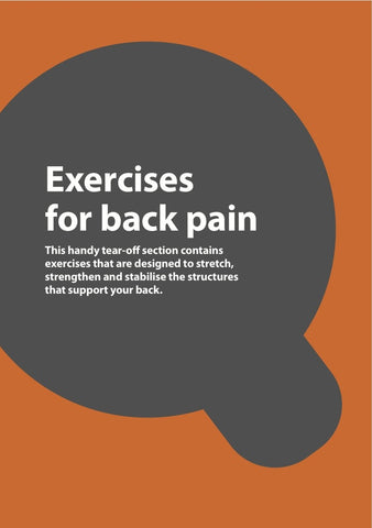 Back Pain Exercise Book