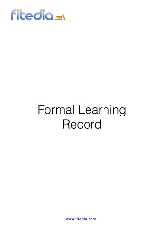 Formal Learning Record