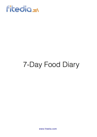 7 Day Food Diary
