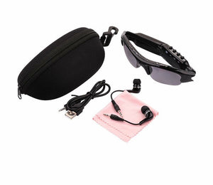 Full HD Smart Headset Sunglasses Sport Riding Wireless Sunglasses With Mobile Camera Outdoor Sports DV/MP3 (Black)