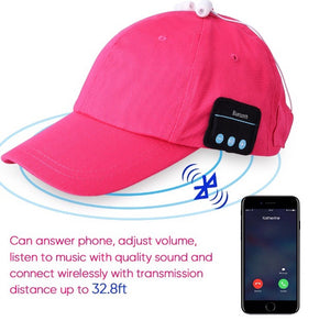 MEN AND WOMEN BLUETOOTH MUSIC CAP WIRELESS HEADPHONE FOR ALL KINDS OF PHONES