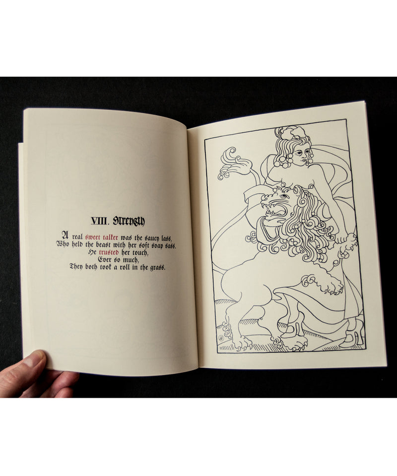 """Tarot / Eros: Naughty Notes From the Garden of Love Adult Colouring Book"""