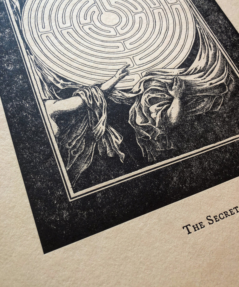 """The Secret"" Letterpress Print"