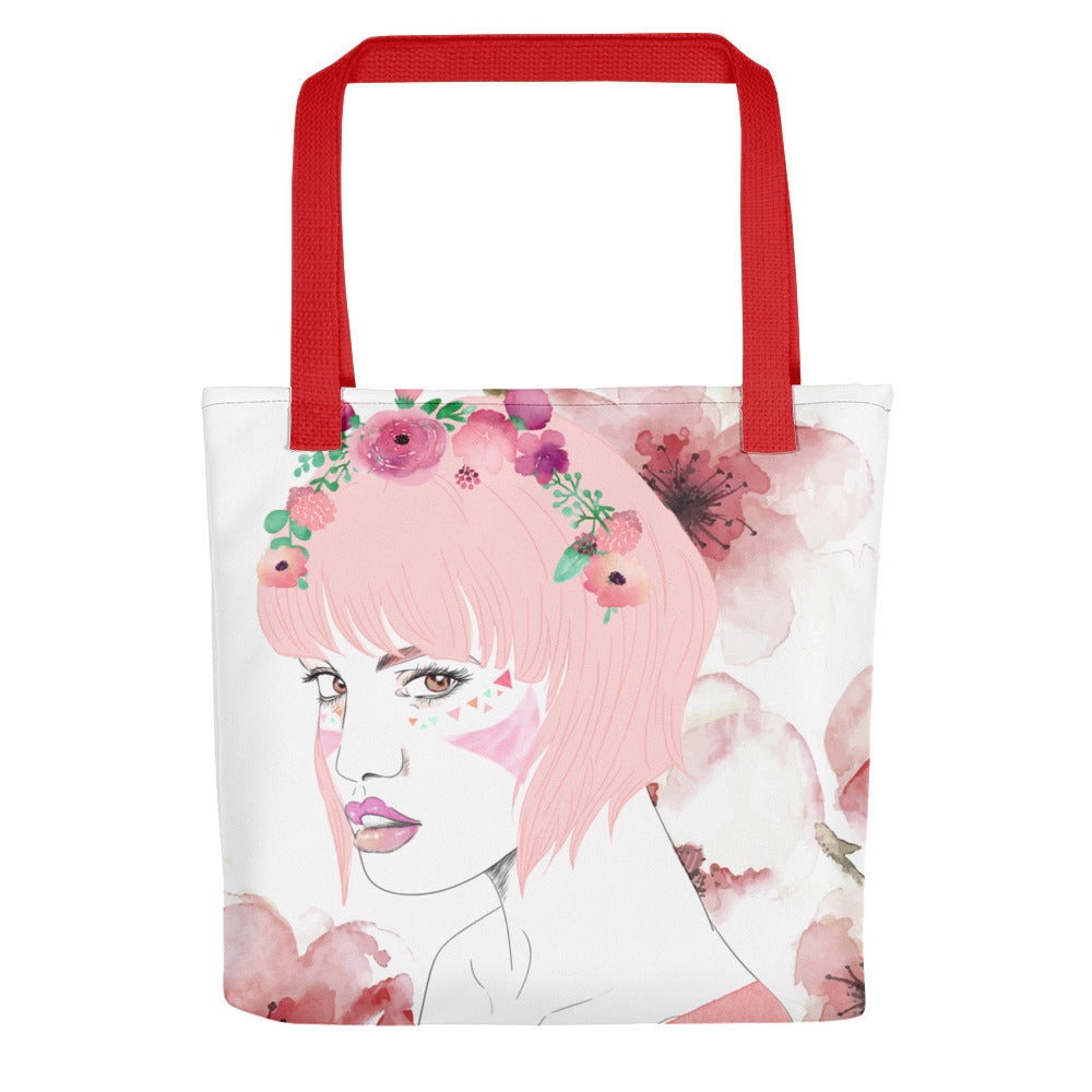 Modern mom tote bag