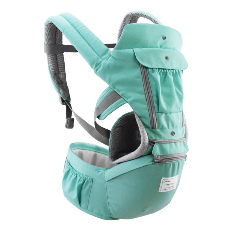 AIEBAO Ergonomic Baby Carrier Infant Kid Baby Hipseat Sling Front Facing Kangaroo Baby Wrap Carrier for Baby Travel 0-18 Months