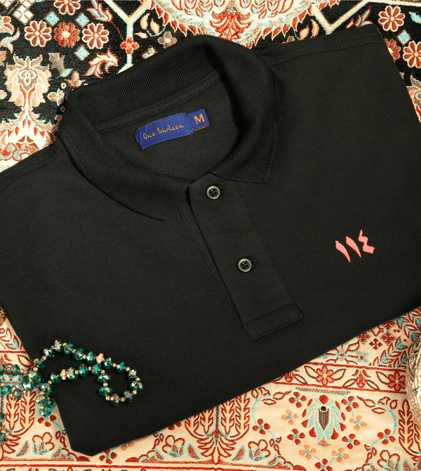 Beirut black men's polo