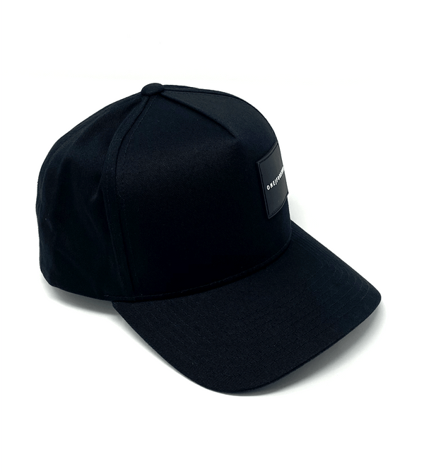 Christchurch black snapback cap