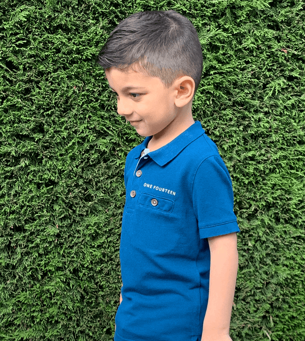 Istanbul blue kid's soft touch polo (slim fit)