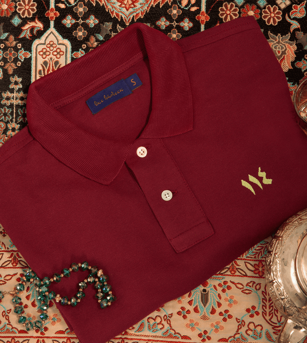 Marrakech burgundy men's polo