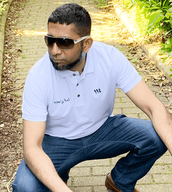 Limited edition men's white One Nation soft touch polo