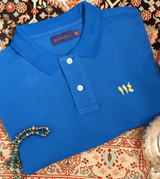 Paris blue men's polo