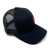 Manchester black and red trucker cap