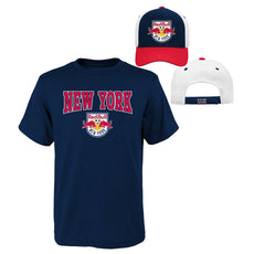 new arrival 26fb4 b4f7f MLS Youth Boys 8-20 Red Bulls Tee   Hat Set, M(10