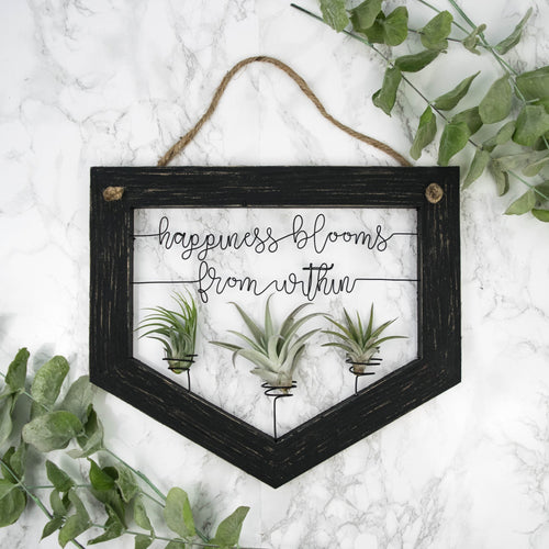 Happiness Blooms From Within • Air Plant Holder - rustandglam