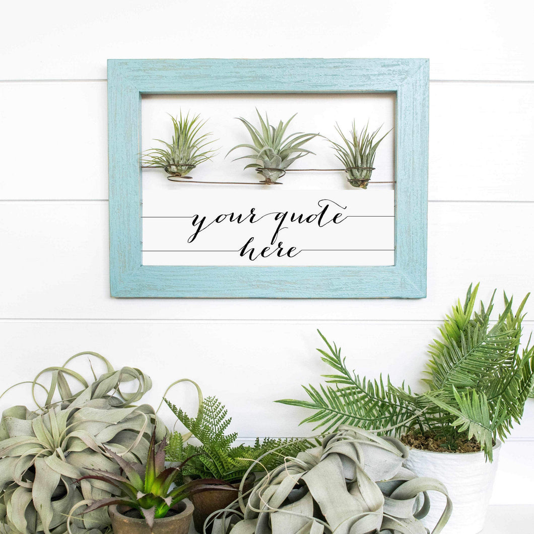 Custom Air Plant Holder (Rectangular) - rustandglam