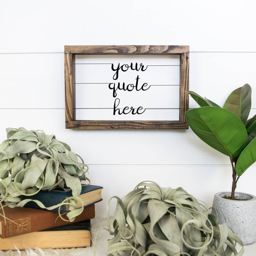 Custom Wire Sign (Thin Rectangular) | Literary Quote Sign | Personalized Wood and Metal Sign | Customized Song Lyrics Sign | Wire Word Art - rustandglam