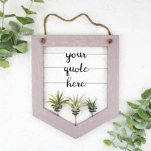 Load image into Gallery viewer, Custom Air Plant Holder (Banner-style) - rustandglam