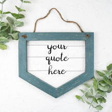 Load image into Gallery viewer, Custom Wire Sign (Wide Banner-Style) | Literary Quote Sign | Personalized Wood and Metal Sign | Customized Song Lyrics Sign | Wire Word Art - rustandglam