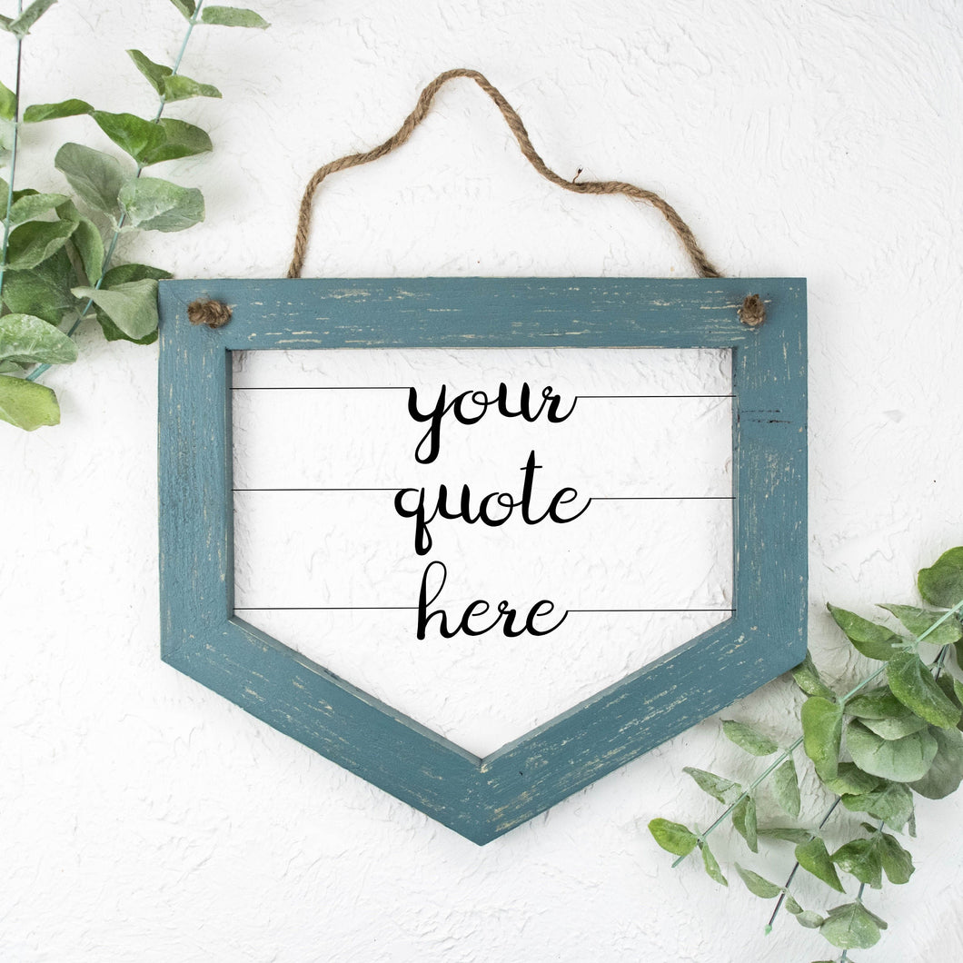 Custom Wire Sign (Wide Banner-Style) | Literary Quote Sign | Personalized Wood and Metal Sign | Customized Song Lyrics Sign | Wire Word Art - rustandglam