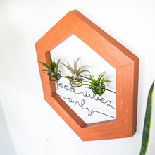Load image into Gallery viewer, Good Vibes Only • Air Plant Holder - rustandglam