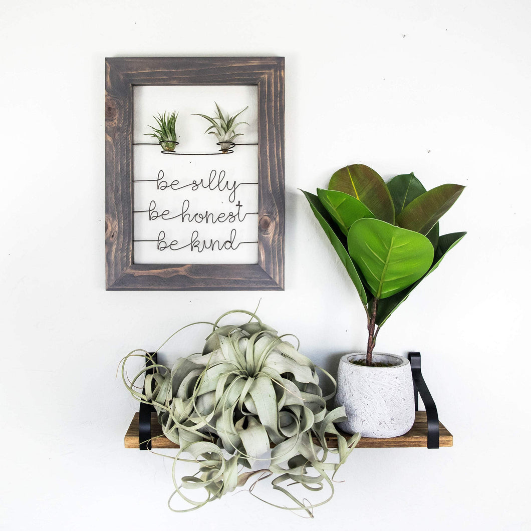 Be Silly Be Honest Be Kind • Air Plant Holder - rustandglam