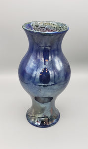 Tall Raku fired vase, 3 color options
