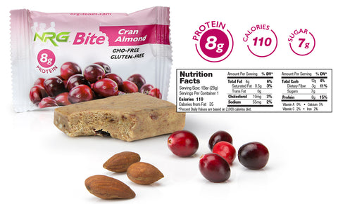 NRG Bite Cran Almond Nutrition Facts
