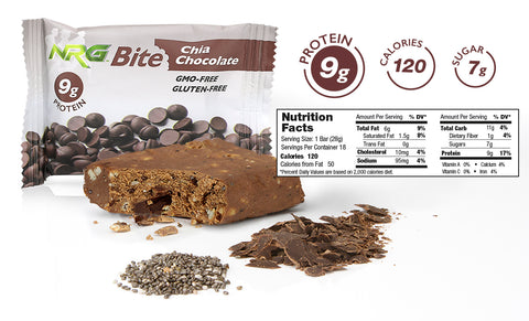 NRG Bite Chia Chocolate Nutrition Facts
