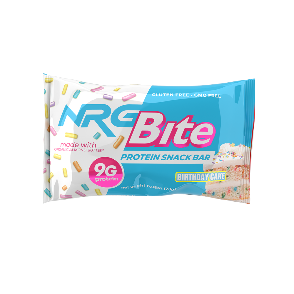 NRG Bite Birthday Cake Protein Snack Bar - 12 ct.