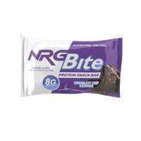 NRG Bite Chocolate Chip Brownie Protein Snack Bar - 12 ct.