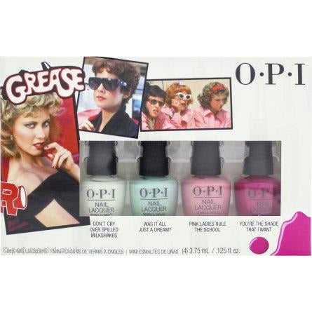 OPI Grease Collection Mini Nail Polish Gift Set 4 Pieces