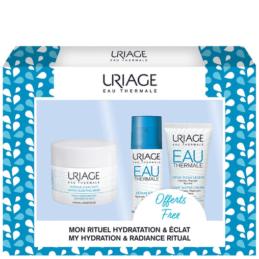Uriage Eau Thermale Gift Set 50ml Water Sleeping Mask + 10ml Water Serum + 15ml Light Water Cream