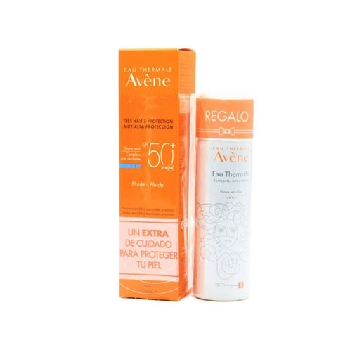 Avene Fluid Sunscreen Spf50 50ml + Thermal Water 50ml