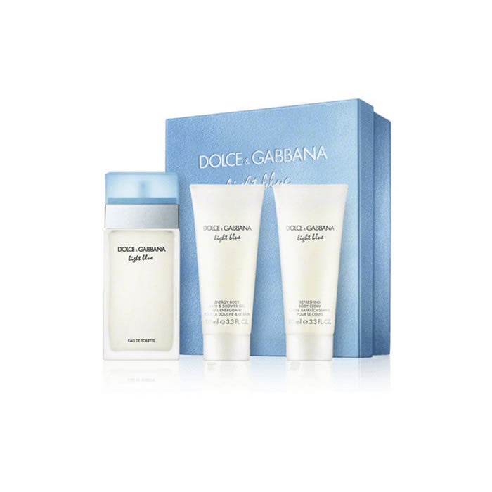 Dolce And Gabbana Light Blue Pour Femme Eau De Toilette Spray 100ml Set 3 Pieces 2018