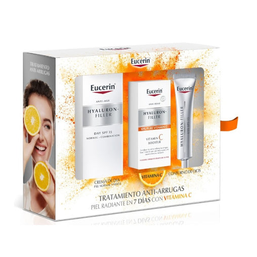 Eucerin Hyaluron-Filler Spf15 Combination Normal Skin 50ml Set 3 Pieces