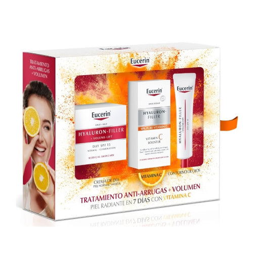 Eucerin Hyaluron-Filler + Volume-Lift Spf15 Combination Normal Skin 50ml Set 3 Pieces