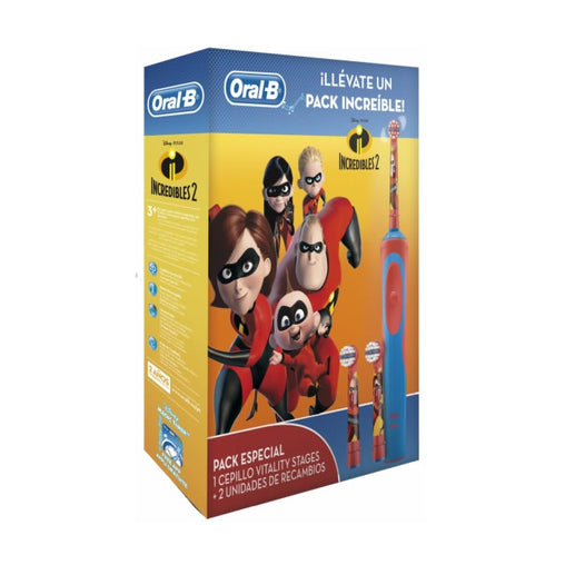 Oral B Vitality Stages Los Incredibles 2 Electric Toothbrush Set 3 Pieces 2019