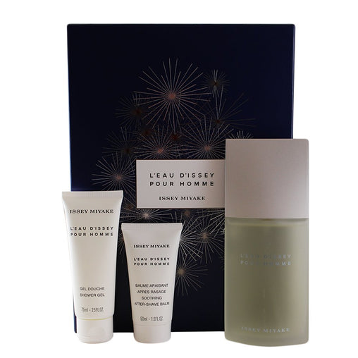Issey Miyake L'Eau d'Issey Pour Homme Gift Set 125ml EDT + 75ml Shower Gel + 50ml Aftershave Balm
