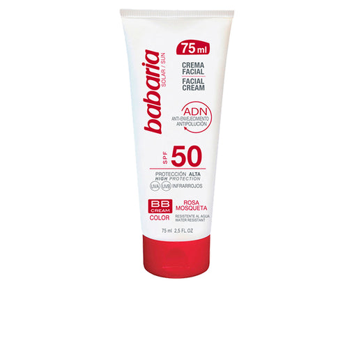 Babaria Bb Facial Sun Cream Spf50 Rosehip Oil 75ml