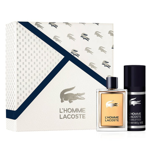 Lacoste L`Homme Gift Set 100ml EDT + 150ml Deodorant Spray