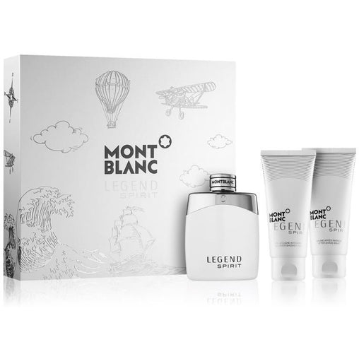 Mont Blanc Legend Spirit Gift Set 100ml EDT + 100ml After Shave Balm + 100ml All Over Shower Gel