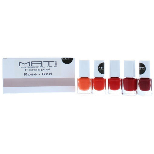 MATi Professional Nails Gift Set Red Rose 5 x 5ml Nail Polish