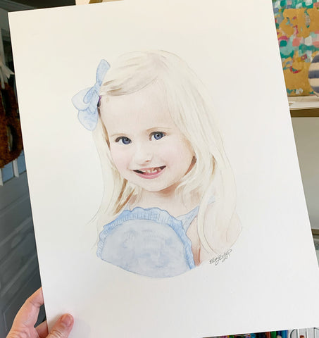 Watercolor People Portraits