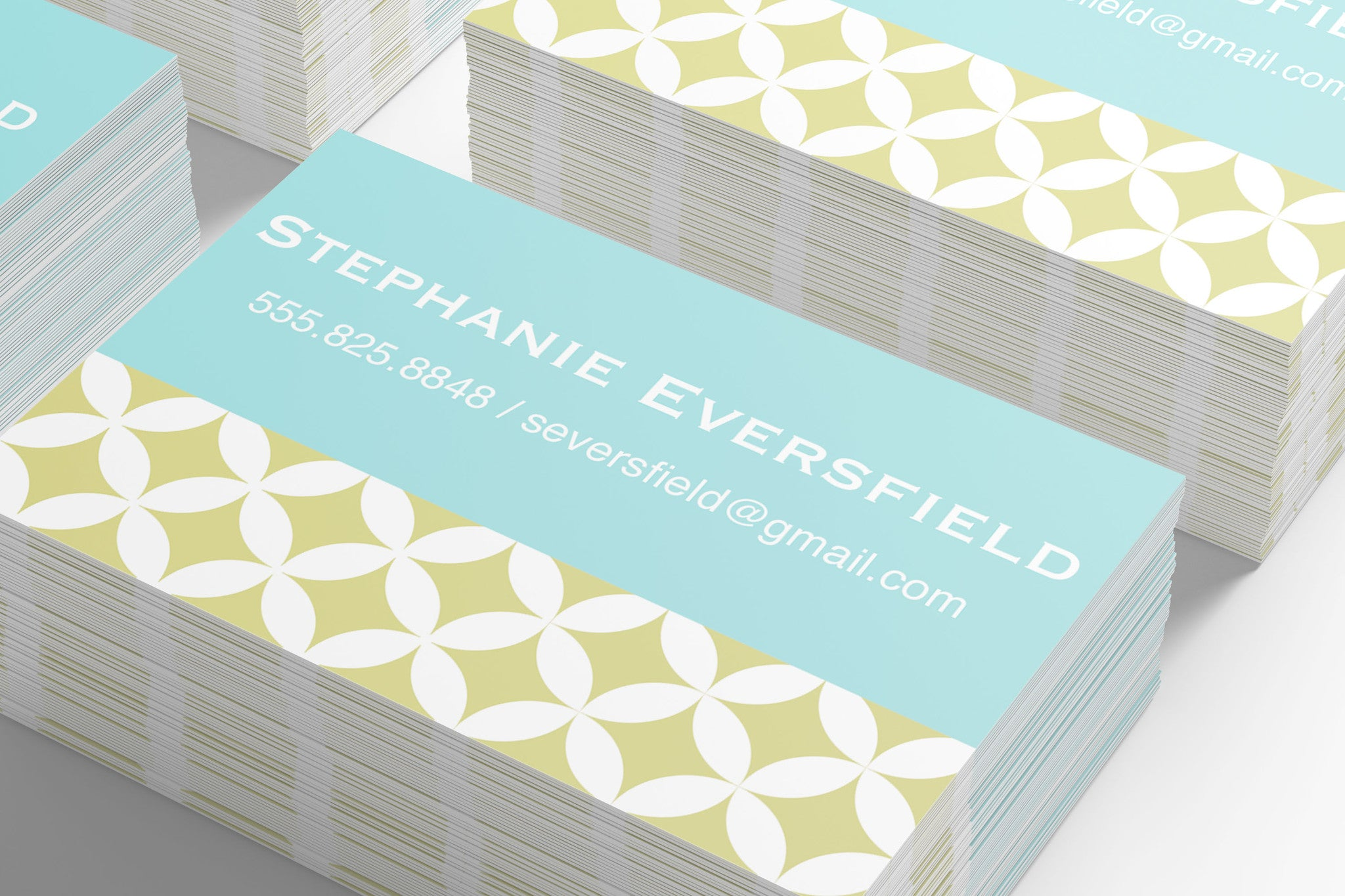 monogrammed business cards – nella designs