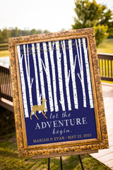 Printable Let the Adventure Begin Rustic Wedding Sign