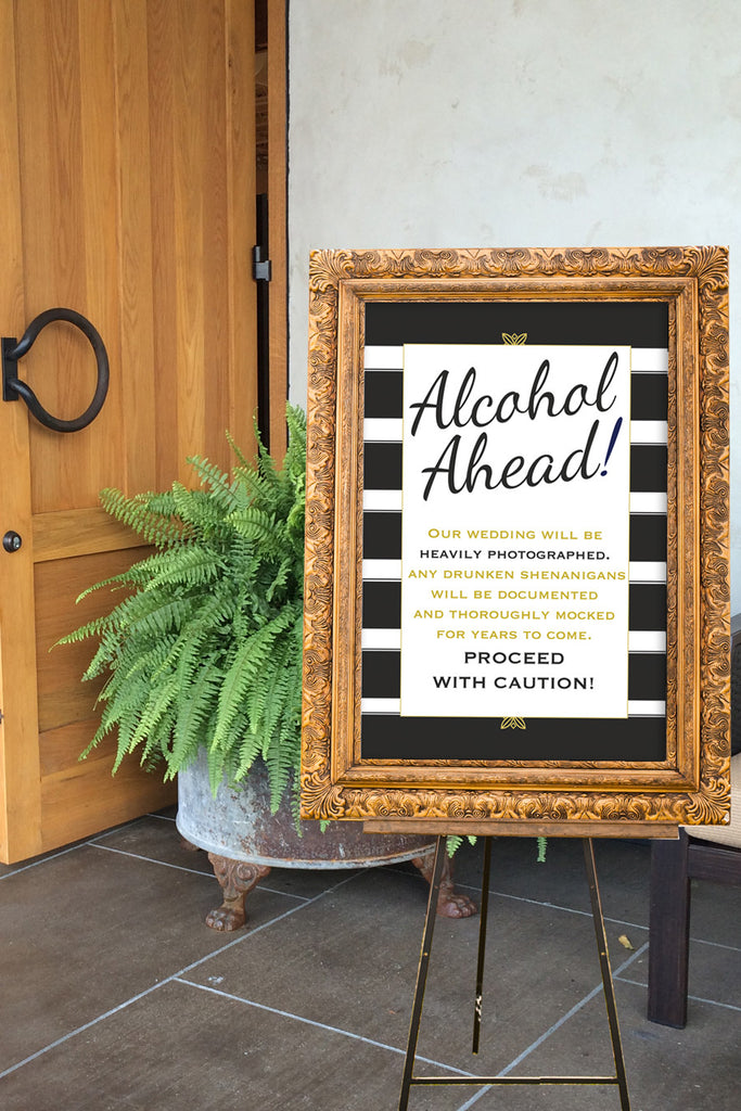Printable Wedding Reception Signs